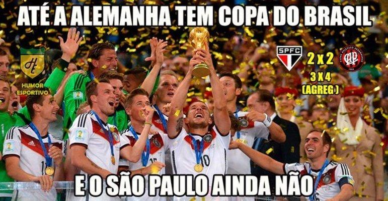 O Athletico-PR foi o algoz da vez na Copa do Brasil em 2018. O Furacão venceu a equipe de Diego Aguirre por 4 a 3 no placar agregado da quarta fase da competição
