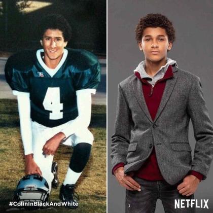 O ator Jaden Michael vai atuar como um jovem Colin Kaepernick na série 'Colin in Black & White', que será produzida e exibida pela Netflix. Mas não é só o quarterback que ganhará vida nas telinhas: relembre outros atletas interpretados por atores em filmes ou séries!