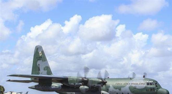 O avião parte de Caracas em direção a Brasília