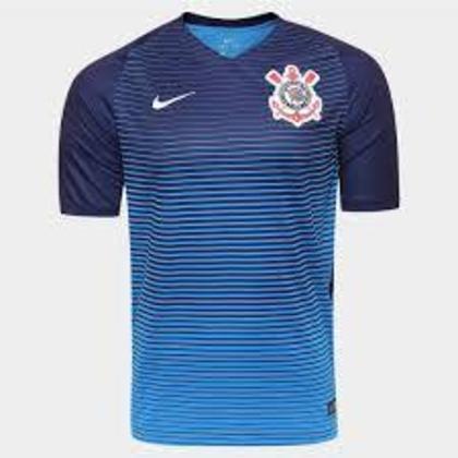 O azul foi o tom da camisa do Corinthians em 2016.