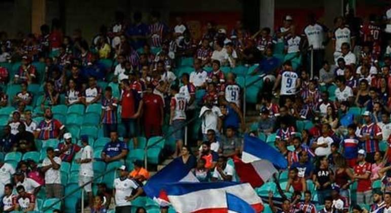 O Bahia teve ticket médio de 21 reais em seus 28 jogos em casa, com média de público de 25.525.