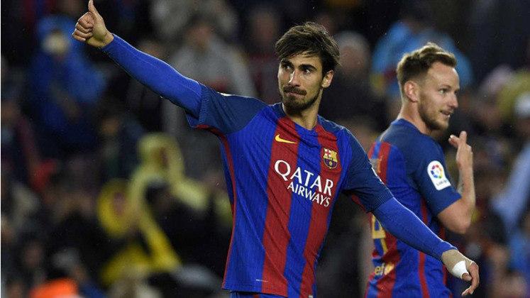 O Barcelona tirou o meia André Gomes do Valencia pela quantia de 37 milhões de euros, em 2016.
