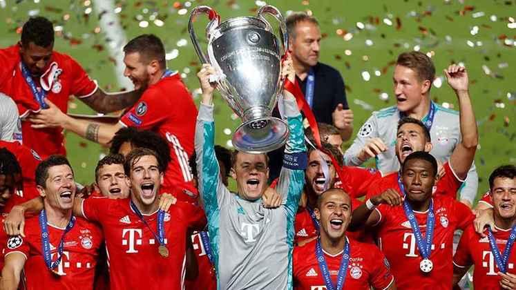 O Bayern, claro, fez uma grande festa pelo título. Foi a sexta vez que o gigante alemão conquistou o troféu mais importante das competições entre clubes na Europa.