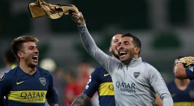 O Boca Juniors eliminou o Palmeiras e chegou à sua 11ª final