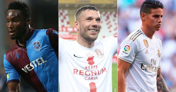Obi Mikel, Podolski, James Rodriguez… Listamos dez astros internacionais que topariam jogar no Brasil