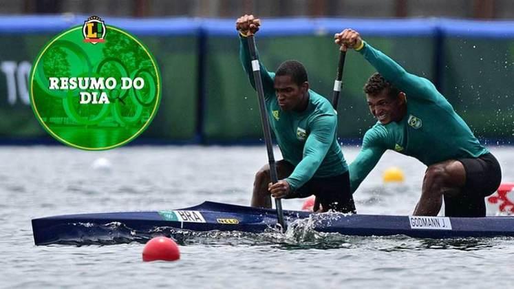 O Brasil teve um dia de altos e baixos nos Jogos Olímpicos de Tóquio. O dia ficou marcado por eliminações improváveis, falhas nas finais de ginástica e a estreia de Isaquias Queiroz na canoagem. Confira o resumo do LANCE!.