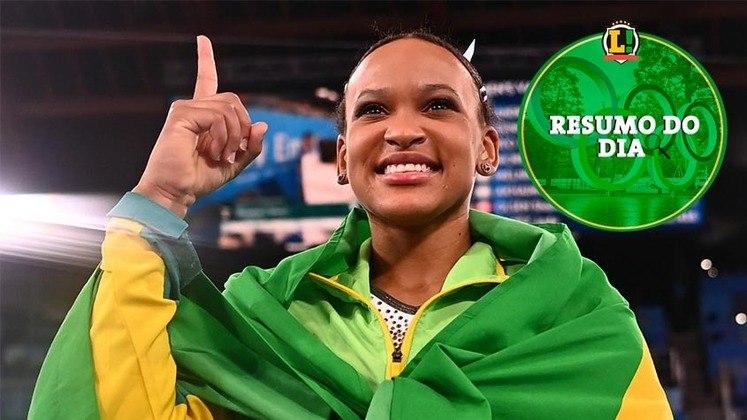 O Brasil teve um dia especial em Tóquio. Rebeca conquistou ouro na ginástica, Bruno Fratus foi bronze na natação e ainda teve medalha garantida também no boxe. Confira o resumo do LANCE!.
