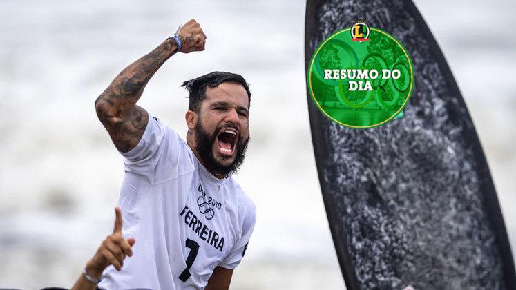 O Brasil viveu uma noite inesquecível nos Jogos Olímpicos de Tóquio. Italo Ferreira conquistou o primeiro ouro do país, justamente no surfe, e marcou o seu nome na história das Olimpíadas. O dia também teve bons resultados no surfe, emoção no vôlei, classificação no futebol feminino e muito mais. Confira o resumo do LANCE!.
