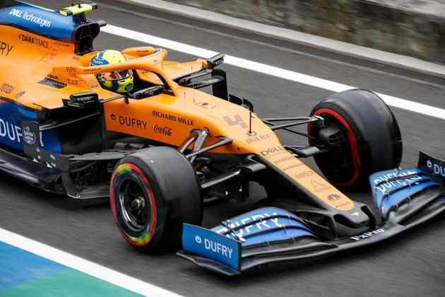 O britânico ficou 1s5 atrás do pole Lewis Hamilton