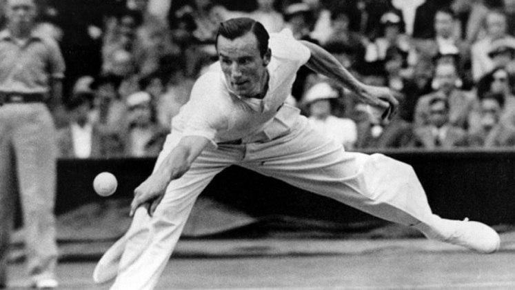O britânico Fred Perry também conquistou oito títulos de Grand Slam