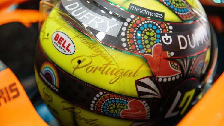 O capacete especial de Lando Norris para o GP de Portugal