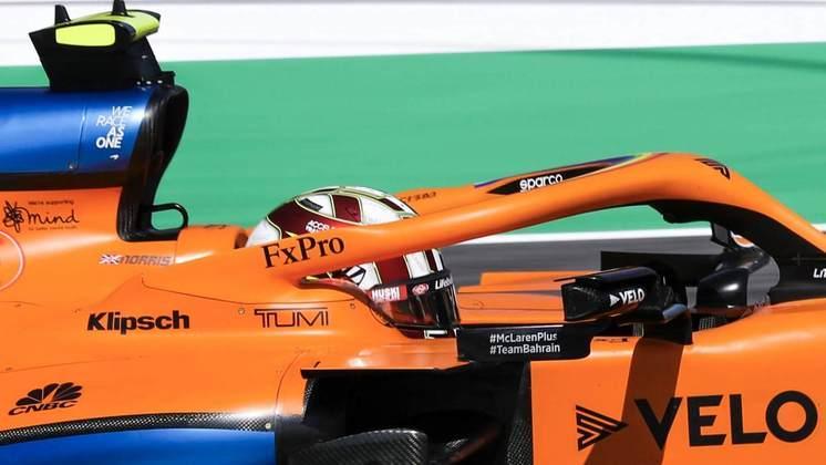 O capacete especial de Norris para a primeira etapa da F1 em Mugello