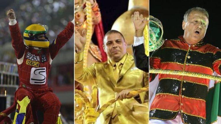 O Carnaval 2021 será diferente: sem os desfiles das escolas de samba e fora do clima de festa por conta da pandemia de Covid-19, os torcedores estão curtindo a folia dentro de casa. Porém, o LANCE! recorda alguns esportistas que já receberam homenagens na avenida para animar a data:
