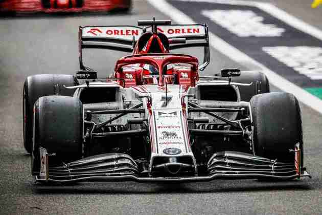 O carro de Kimi Räikkönen após o GP da Bélgica de 2020