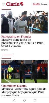O Clarín dá informações sobre a possível estreia do novo ídolo do PSG