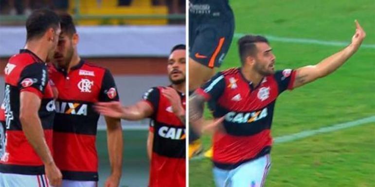 O clima esquentou entre Rhodolfo e Felipe Vizeu durante a vitória por 3 a 0 do Flamengo sobre o Corinthians em 2017. O zagueiro deu um soco e uma cabeçada no atacante, que fez gol minutos depois e xingou o companheiro na comemoração.