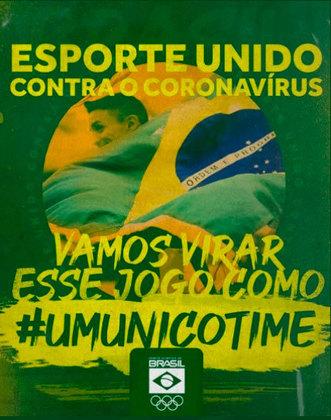 O COB (Comitê Olímpico Brasileiro), criou uma campanha de conscientização nas redes sociais em razão da pandemia do coronavírus.