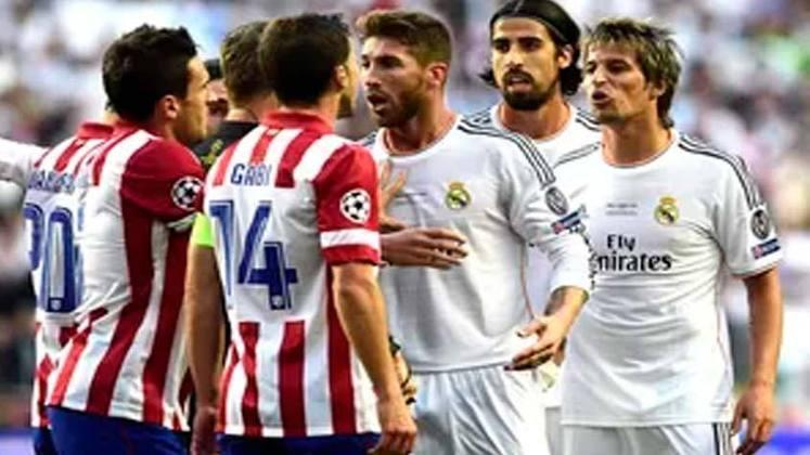 O confronto entre os rivais de Madrid começou com gol de Godín, para o Atlético, aos 36 minutos de jogo. O empate do Real chegou apenas no minuto 93 da partida, com gol de Sergio Ramos. Na prorrogação, os merengues marcaram três vezes com Bale, Marcelo e Cristiano Ronaldo.