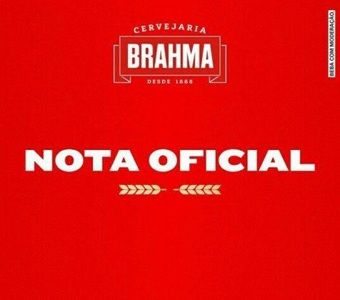 O contrato da Brahma com o Santos havia se encerrado no dia 1º de outubro, não foi renovado, mas a empresa se manifestou dizendo que caso o contrato do Peixe com o Robinho fosse mantido não haveria conversas sobre renovação.