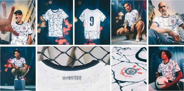 O Corinthians e a Nike lançaram nesta terça-feira a nova camisa 1 do clube para a temporada. O modelo é inspirado na alma corintiana e na luta para a quebra de barreiras. A campanha contou com participações especiais, como a do jovem atleta da base Guilherme Biro. Confira as fotos na galeria a seguir: