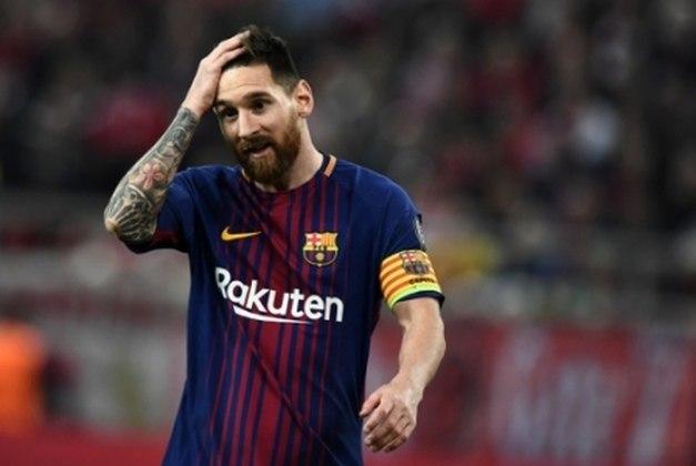 O craque Lionel Messi atua pela equipe profissional do Barcelona desde 2005