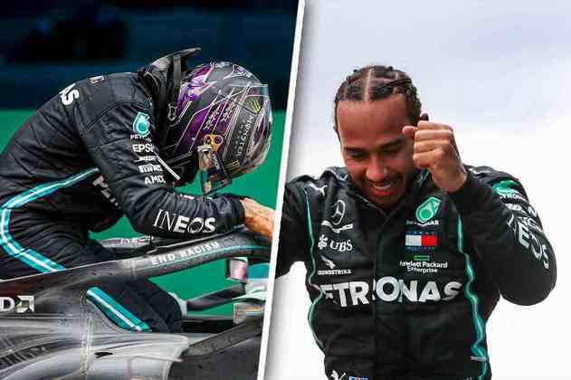 O dia foi histórico para a Fórmula 1. Lewis Hamilton se tornou heptacampeão mundial. Confira as melhores fotos do domingo: (Por GRANDE PRÊMIO)