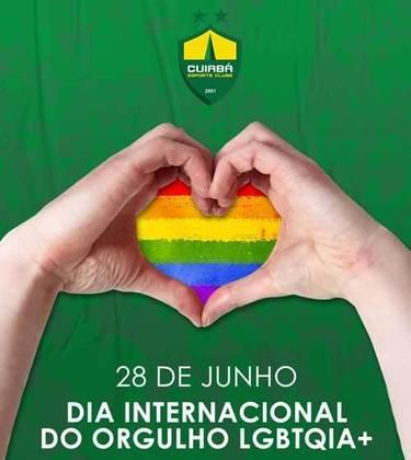 """O Dourado publicou uma arte especial para celebrar o Dia Internacional do Orgulho LGBTQIA+, destacando que o clube respeita """"a diversidade e toda forma de amor""""."""