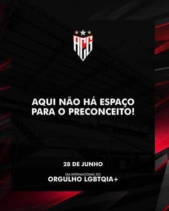 """O Dragão fez uma publicação destacando a importância da diversidade e afirmando que """"não há espaço para preconceito"""" dentro do Atlético Goianiense."""