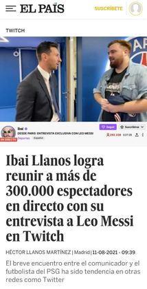 O El País mostra impacto sobre apresentação de Lionel Messi nas redes sociais