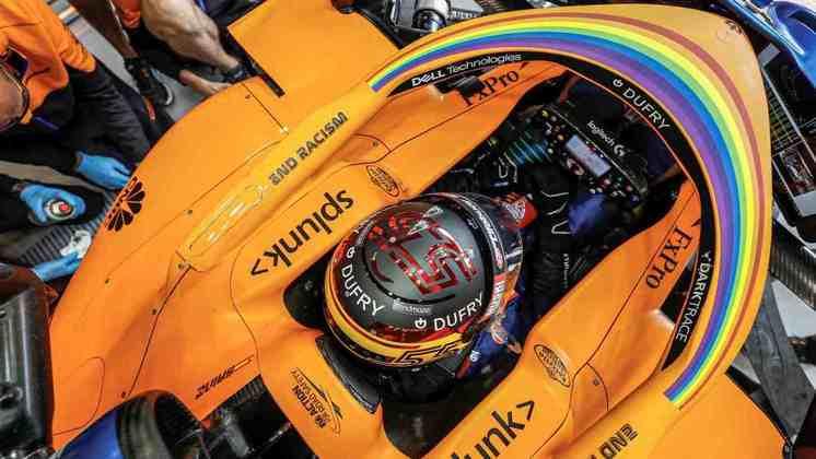 O espanhol da McLaren ficou 0s7 atrás de Max Verstappen no segundo treino livre