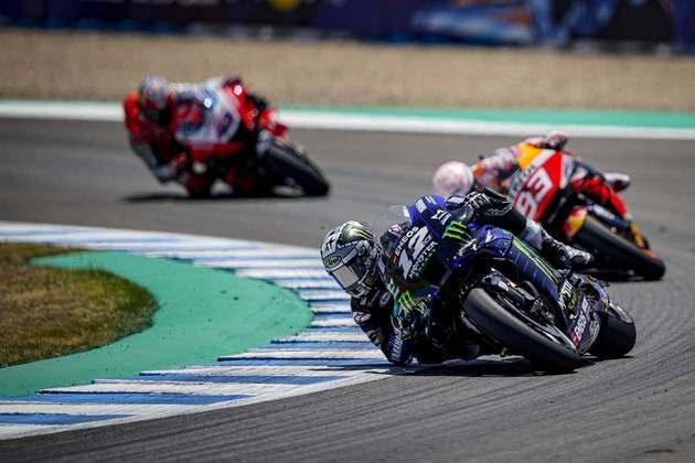 O espanhol da Yamaha ficou na frente durante a primeira parte da prova (Foto: Yamaha)