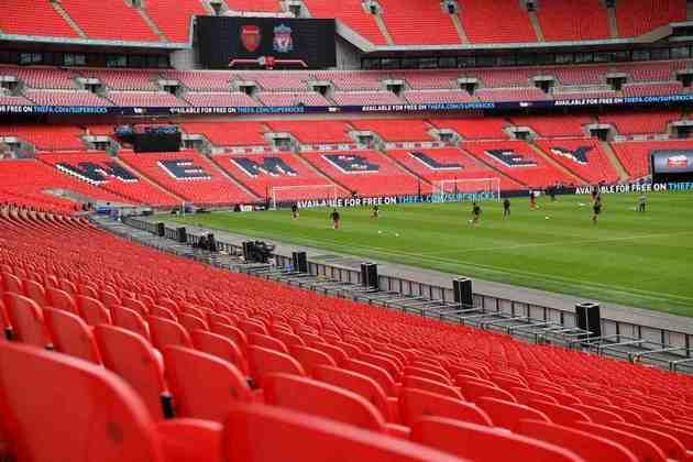 O Estádio de Wembley, com capacidade para 90 mil pessoas, terá 25% da capacidade liberada para o público (cerca de 22,5 mil pessoas). Receberá jogos da fase de grupos, as duas semifinais e a grande final.
