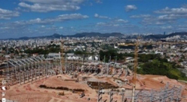 O Estádio do Galo já está com 18% das obras concluídas