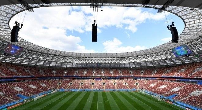 O estádio Luzhniki, em Moscou, será palco da estreia da Copa de 2018