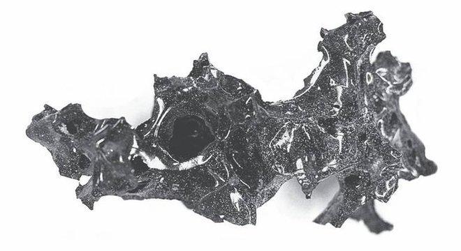 O estudo conclui que o material encontrado é um pedaço de um cérebro humano vitrificado