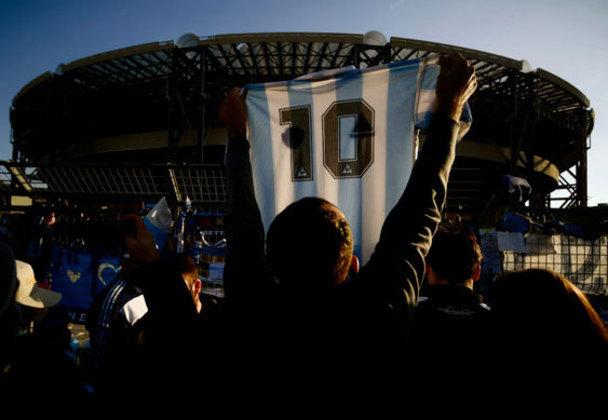 O eterno camisa 10 da Seleção Argentina.