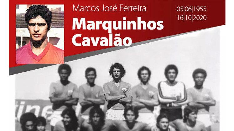 O ex-zagueiro Marquinhos, que defendeu clubes como Cruzeiro e Palmeiras, morreu em outubro, com 65 anos.