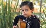 O filho de Cristiano Araújo em foto postada por Felipe Araújo