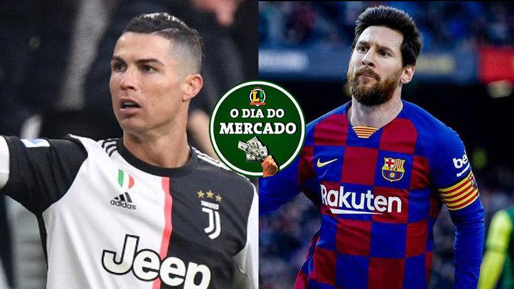 O final de semana do mercado da bola foi agitado! Na Itália, Cristiano Ronaldo decide seu futuro. Enquanto isso, na Inglaterra, um time da Premier League faz planos para contratar Lionel Messi. Confira no resumo do mercado!