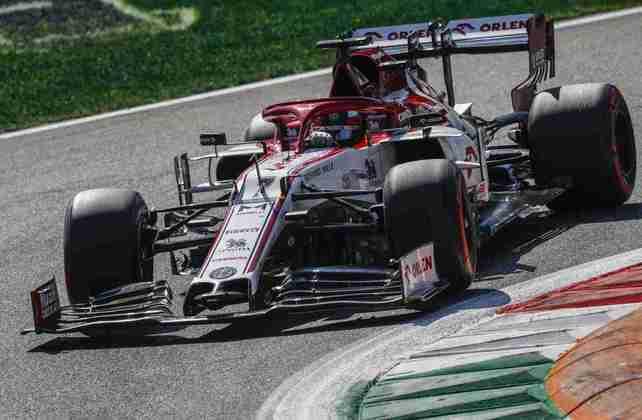 O finlandês em ação durante o treino classificatório para o GP da Itália