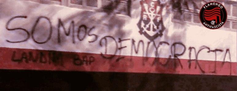 O Flamengo Antifascista e Flamengo da Gente representam o Rubro-Negro neste posicionamento.