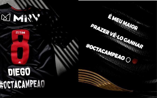 O Flamengo conquistou o Brasileirão 2020 e a Adidas, fornecedora de material esportivo do clube, produziu pares de chuteiras especiais e camisas personalizadas para os jogadores Diego Ribas, Rodrigo Caio e Willian Arão, todos patrocinados pela marca. O trio foi presenteado com chuteiras que eternizam o título, levando a inscrição