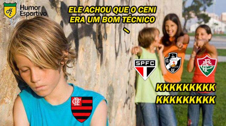 O Flamengo recebeu o Ceará na tarde deste domingo no Maracanã e perdeu sua segunda partida consecutiva pelo Brasileirão. O resultado frustrou os rubro-negros, mas acabou sendo motivo para memes e piadas dos torcedores rivais. Veja na galeria! (Por Humor Esportivo)