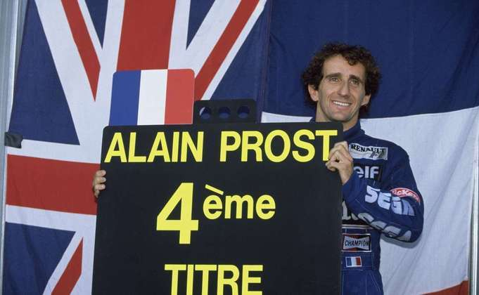 O francês correu na Fórmula 1 até o fim da temporada 1993. Foram quatro títulos mundiais e 41 vitórias - a última no GP da Alemanha daquele ano -, estabelecendo-se como recordista isolado