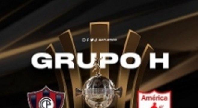 O Galo está no Grupo H com América de Cali-COL, Cerro Porteño-PAR e Deportivo La Guaíra-VEN