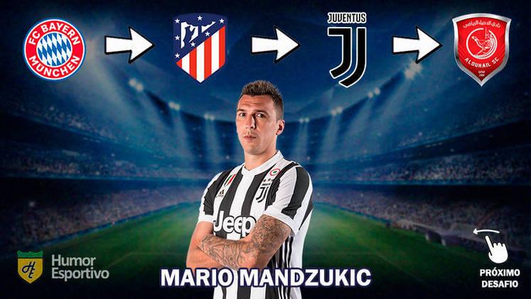 O gigante croata Mario Mandzukic tem 34 anos, mas ainda é valorizado na Europa. Há quem diga que o craque, que deixou o futebol do Catar, vai voltar para a Juventus.