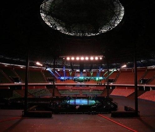 O Ginásio do Ibirapuera, em São Paulo, receberia o UFC 250 no dia 9 de maio, mas o evento também foi cancelado por conta da pandemia.