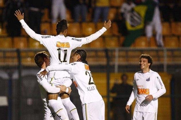 O gol de Neymar, aos 12 minutos do primeiro tempo, contra o Once Caldas, no Pacaembu, pela partida de volta das quartas de final da Libertadores, em tese, serviria para dar tranquilidade aos santistas no jogo, mas, na verdade, foi fundamental para que o Peixe avançasse de fase. Isso, porque aos 30, ainda da etapa inicial, Wason Renteria, que após o torneio foi contratado pelo Santos, empatou o jogo, e, com o critério do gol qualificado, bastava um gol para que os colombianos passassem de fase. E o Once apertou, mas o Peixe segurou o 1 a 1 e classificou-se às semifinais e, ainda por cima, exorcizou o fantasma do Once Caldas, que havia eliminado o Santos na mesma fase na Libertadores de 2004, sete anos antes.