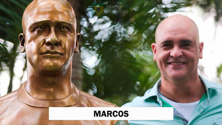 O goleiro Marcos foi homenageado no Palestra, mas muitos compararam o busto com o Sargento Pincel, do