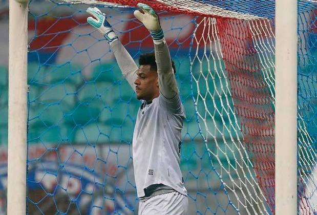 O goleiro SAULO foi titular só no revés do Botafogo para o Bahia, por 1 a 0, pelo Campeonato Brasileiro.